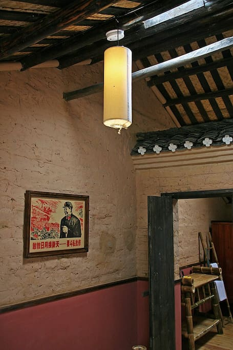 Loft Romm Detail, Moon Hill Village Farmhouse, Yangshuo Village Inn, Yangshuo China