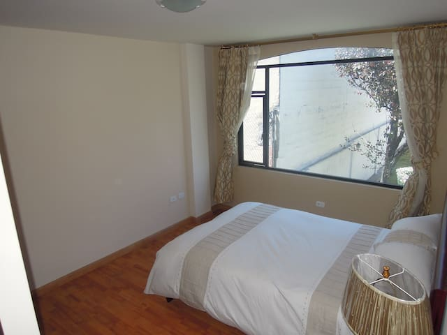 1st Double Bedroom with Large fitted Wardrobe and View