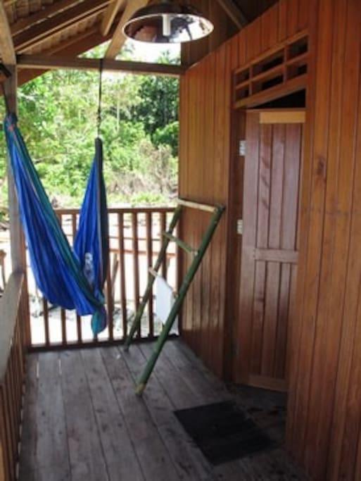 Our balcony on each room