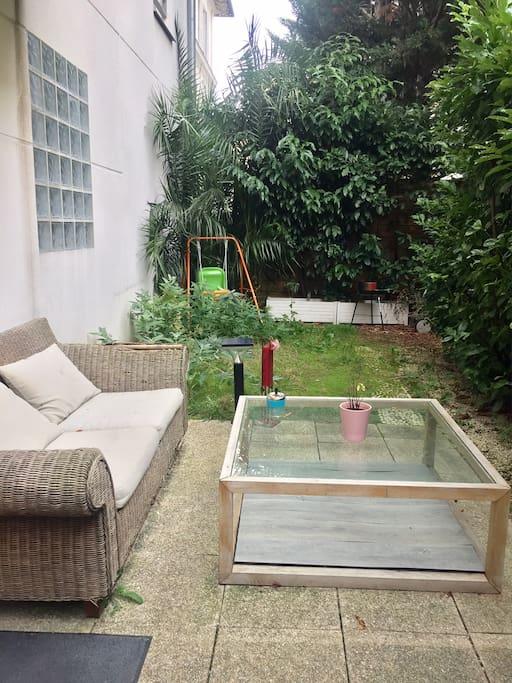 Terrasse jardin 30m2 isolé