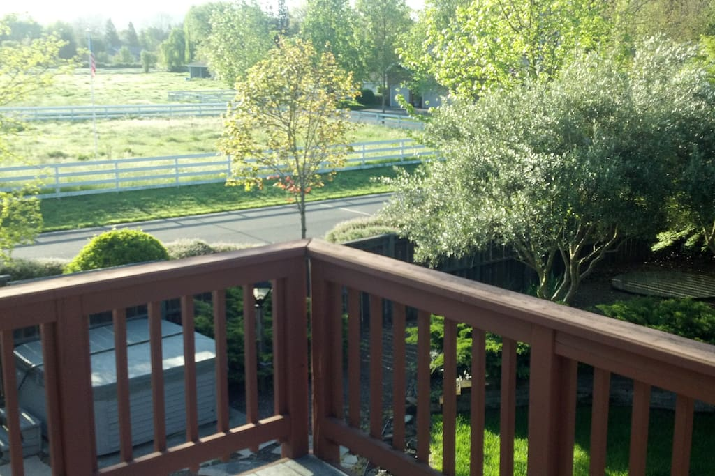 View from upper deck off master bedroom