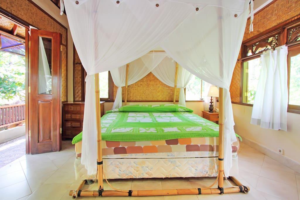Mosquito nets are super cozy.