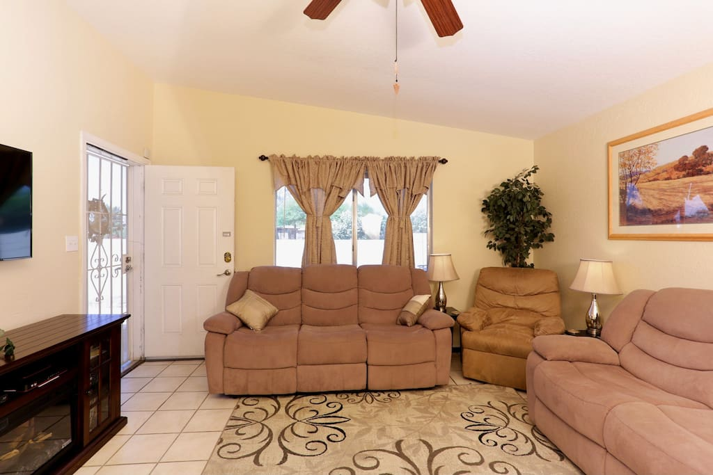 """5 Recliners, 50"""" TV, 100+ DVD movies. """"My family and I loved staying there!"""""""