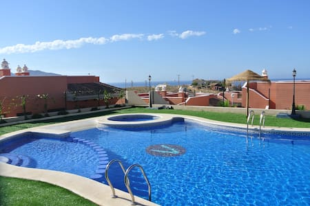 Family villa with large garden and sea views
