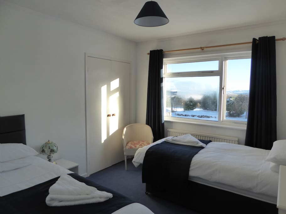 Lovely bright room with great views
