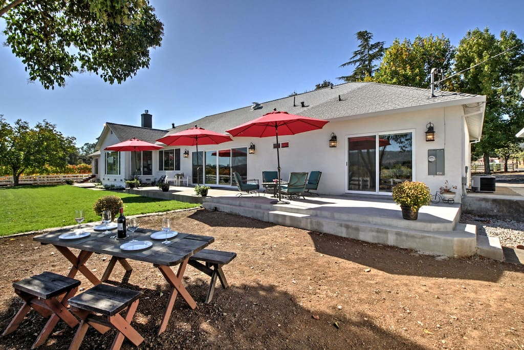 This county home boasts a wonderful patio space, allowing guests to optimize their time in the outdoors!