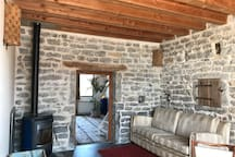 Un poêle cheminée