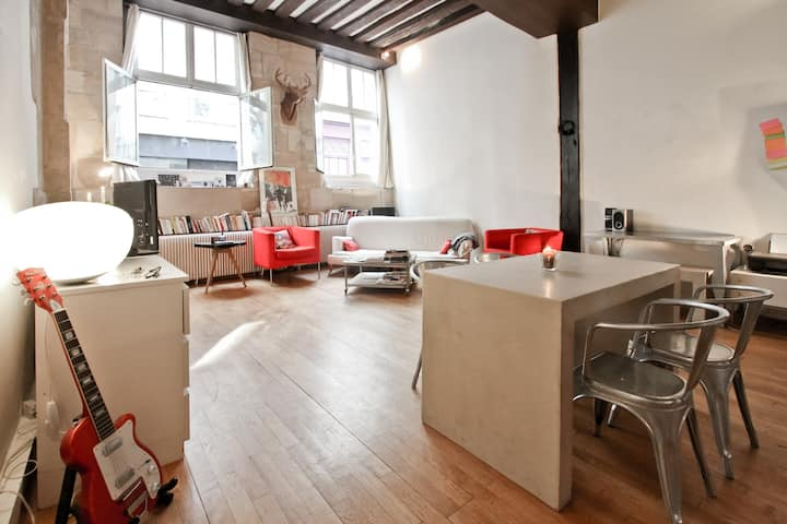 charming, lovely flat in Le Marais