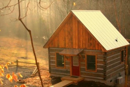 Deer Run:  Waterfront Log Cabin - Elkin