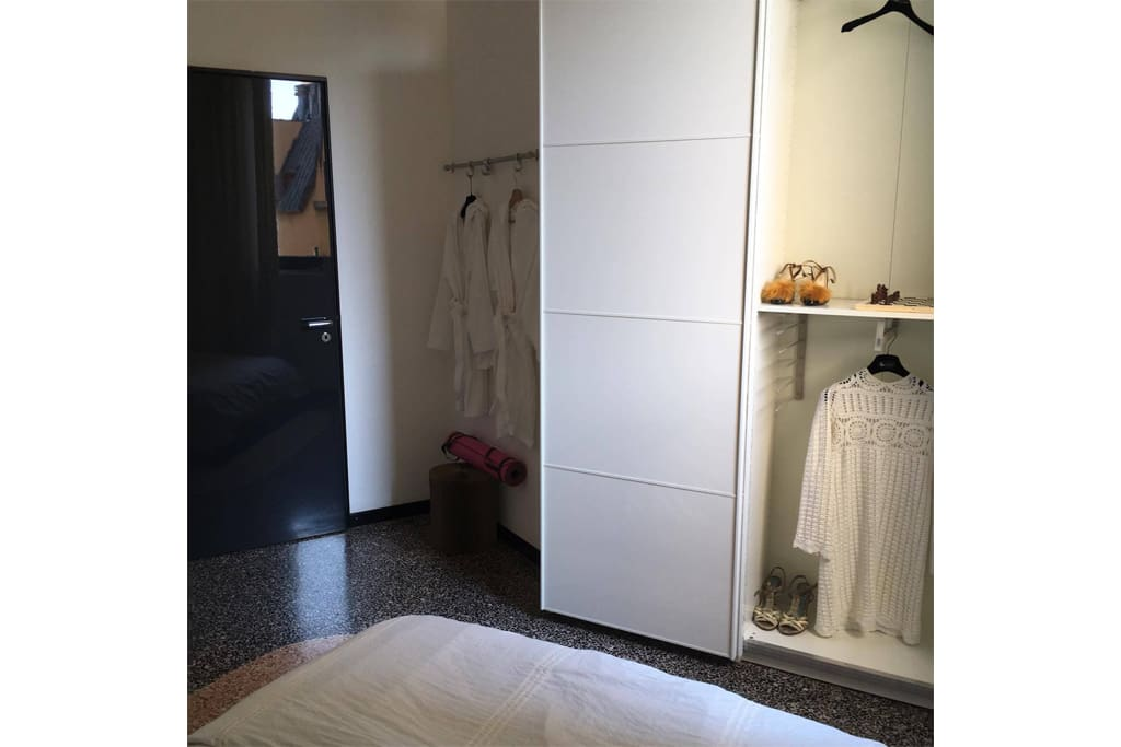 Large bedroom with double sided closet!