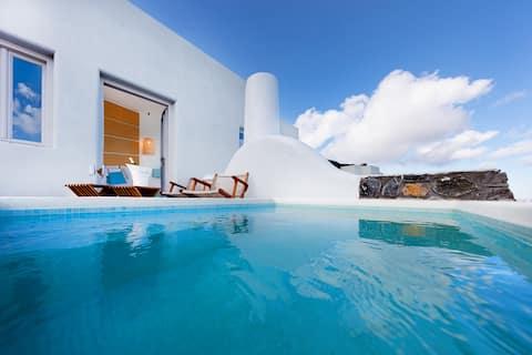 Vila gua Sian, bak mandi air panas/pemandangan panorama