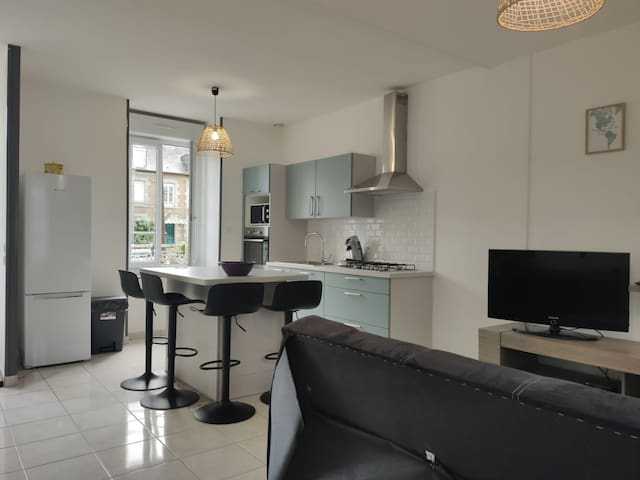 Appartement RDC Lumineux 2 chambres + parking