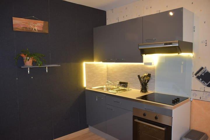 TOUSSIEU chambre simple +cuisine&sdb dans maison