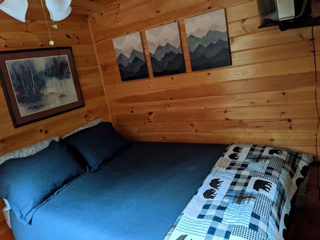 Main floor bedroom #3 with Queen
