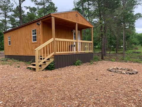 Kick it Back in tiny Cabin #1...at Kirby Landing