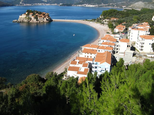 Nice studio close to the sea (30m) - Sveti Stefan - Apartment