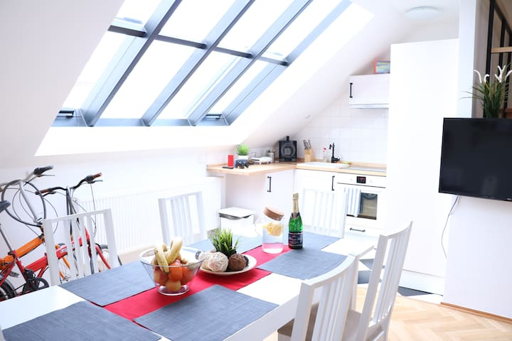 3BR APT GREAT VIEW+TV,PS4,NETFLIX,GRILL,FREE BIKES - Prague - Loft