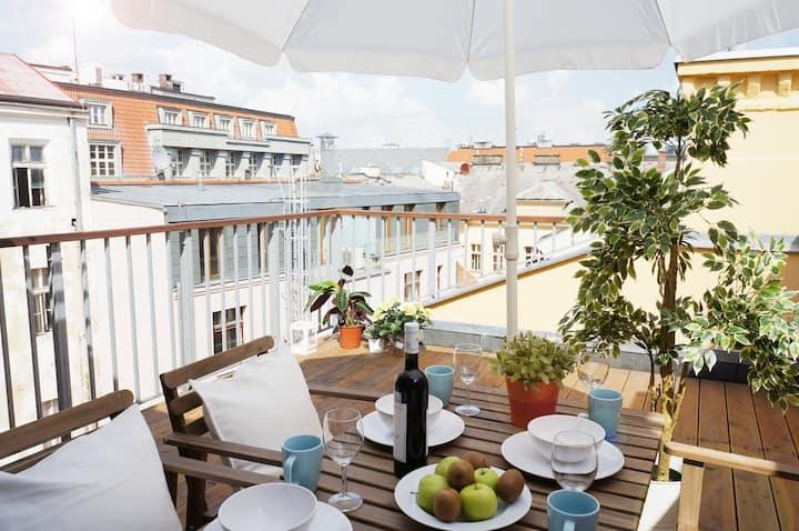 Suite Prague Apartment - Duplex, with Terrace