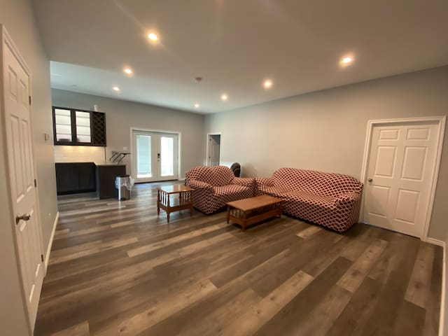 Living space. Unit is heated with in floor radiant heat.