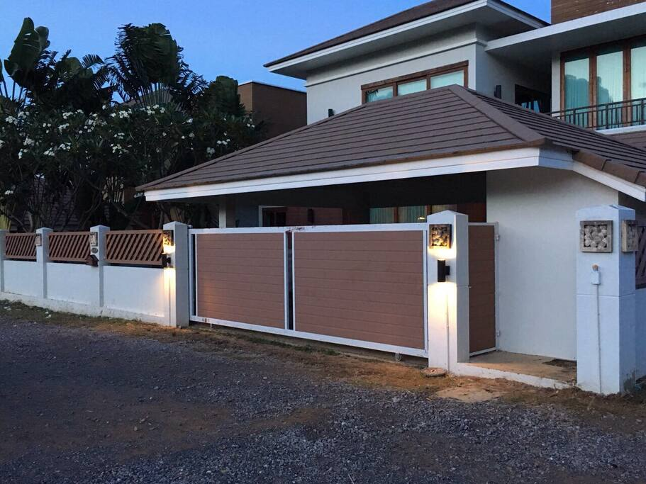Front of Villa with sliding gate