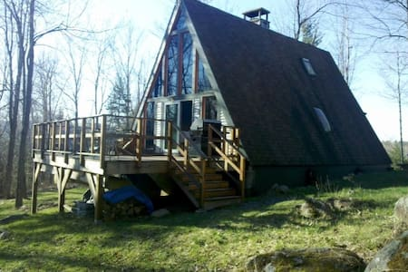 Adirondack Mountainside A-Frame - Jay - Zomerhuis/Cottage