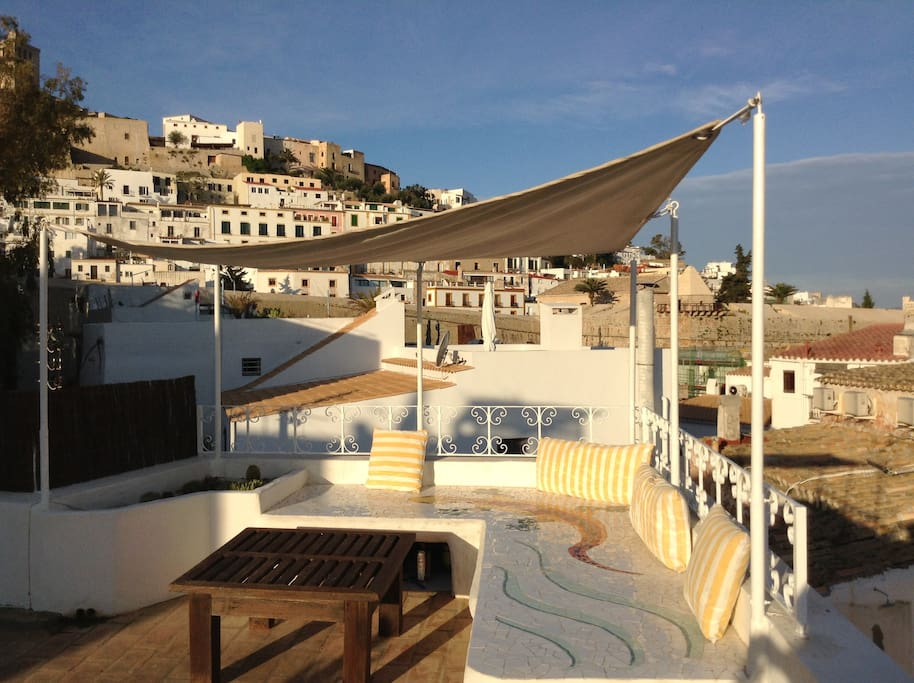 Incredible privative roof terrace 40msq view on Dalt Vila