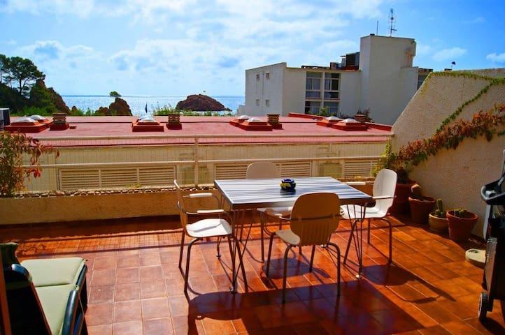 Luxury Sea and Beach View apartment - Tossa de Mar - Daire