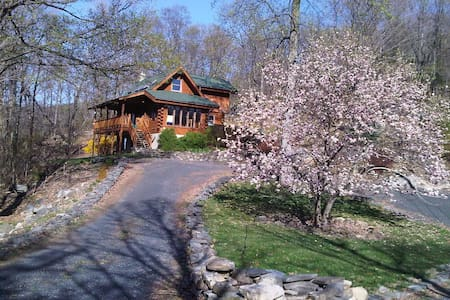 Log Home on 7 mountain acres  - Warwick - Huis
