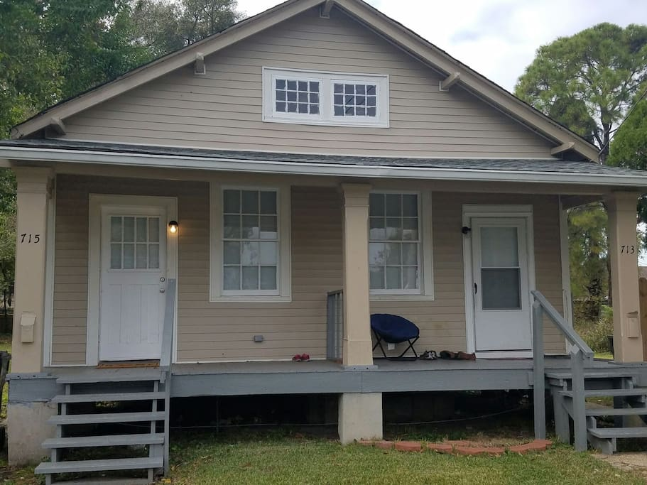 Cozy Algiers 2 Bedroom Shotgun Home Houses For Rent In New Orleans