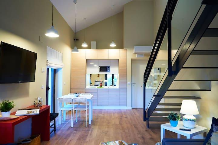 Vista de la cocina integrada.