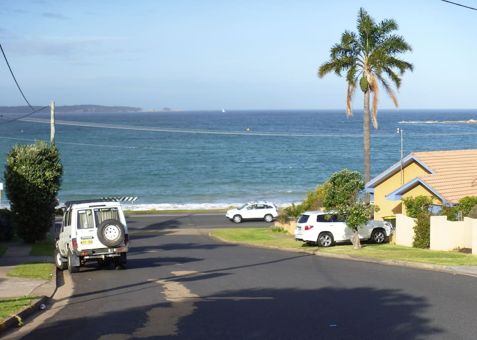 Sea-view from the front of the home, looking down to Casey's Beach