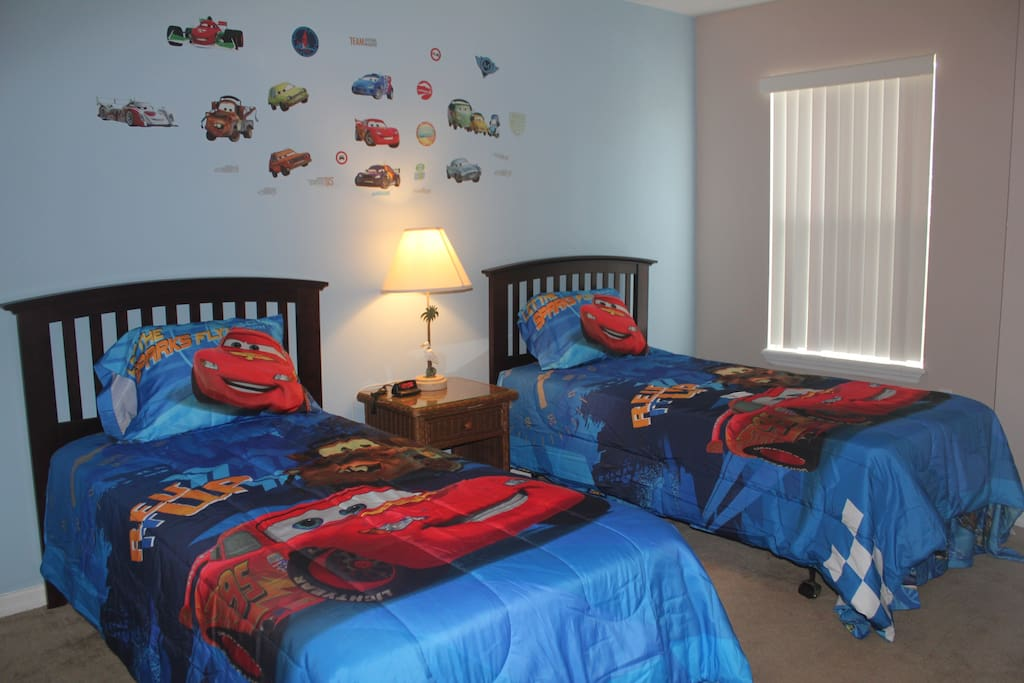 Upstair boys' rooms with two twin beds