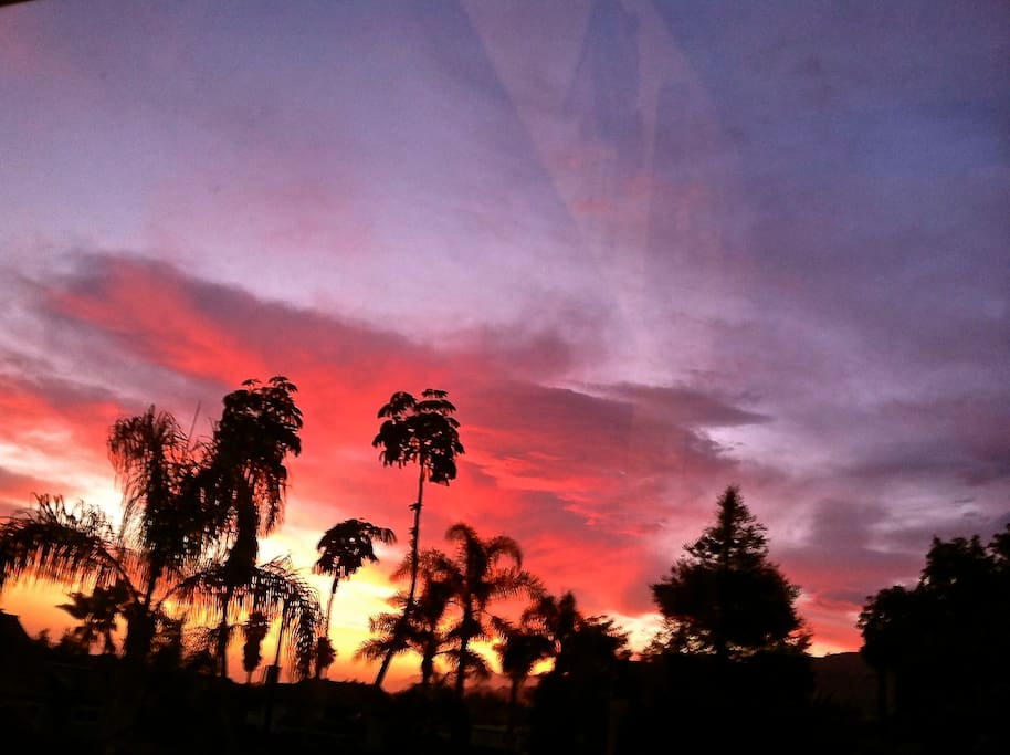 one of many incredible La Conchita sunsets.This one taken on 5/9/13 from the dining room window in the previous picture