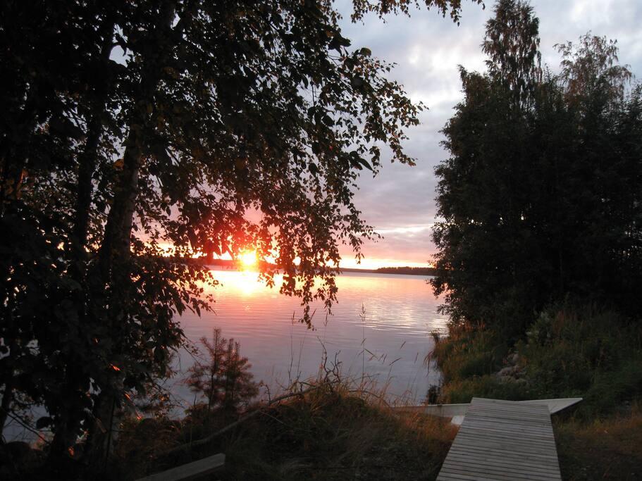 Näkymä saunalta/View from the sauna