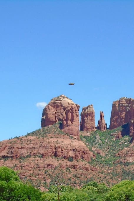 UFO over Cathedral Rock