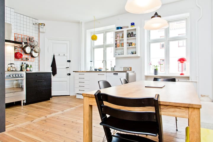 Spacious apartment by the harbor - Kopenhagen - Appartement
