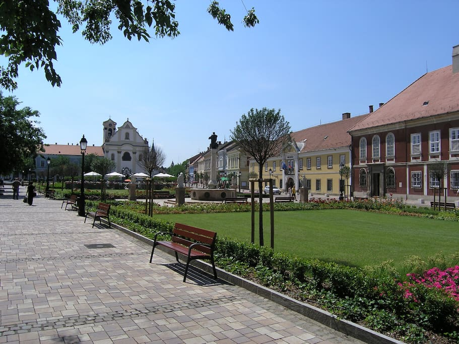 Main square in Vác