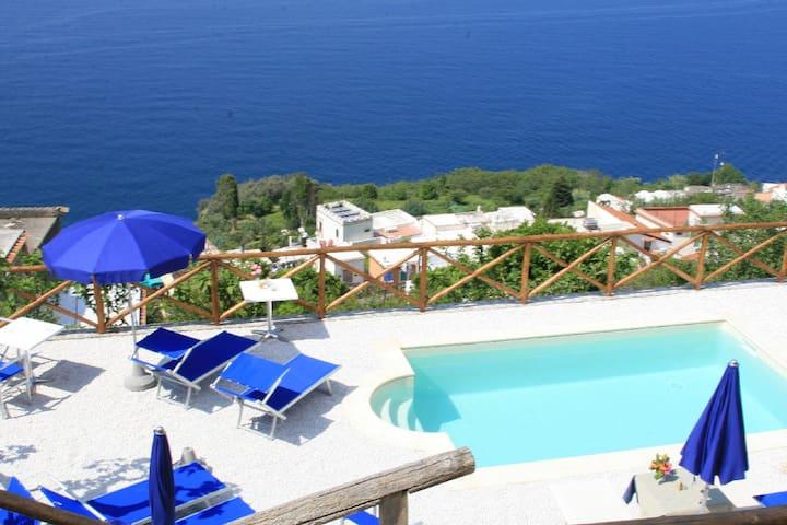 Villa Il Frantoio Praiano, 8 bedrooms. Service!
