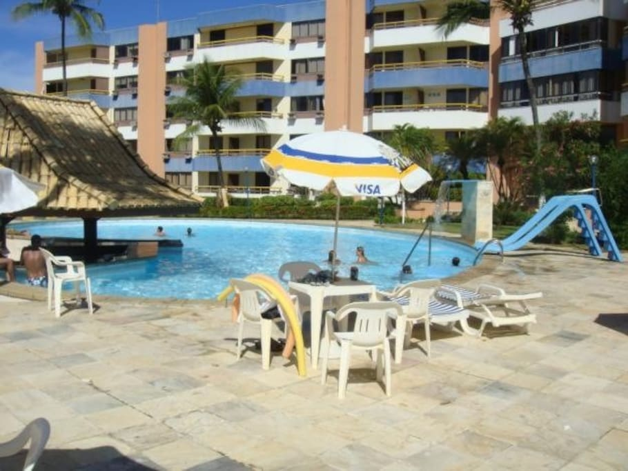 Pool and bar area, other side of building is the beach