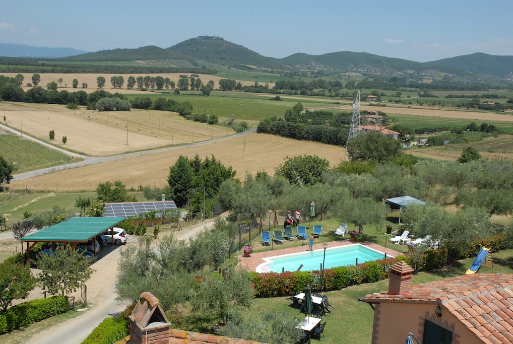 Overview with swimming pool