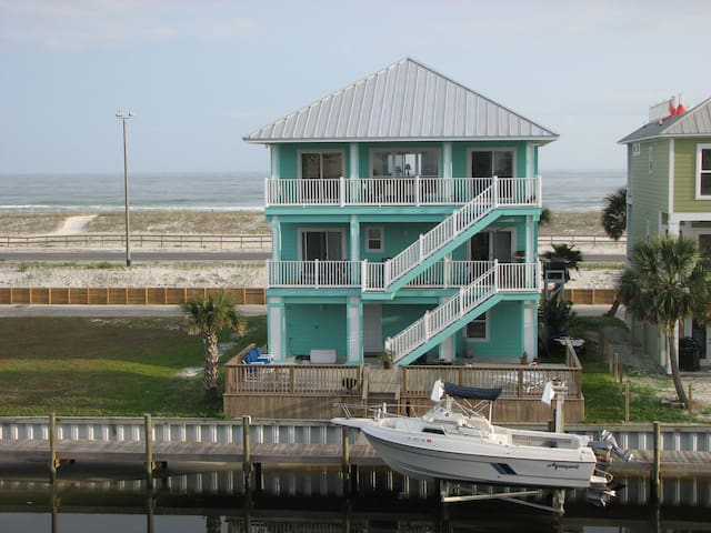 Pensacola Gulf Front with sound in the back/dock - Gulf Breeze - Dům