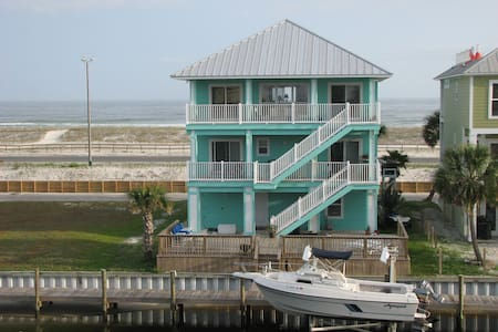 Pensacola Gulf Front with sound in the back/dock - Gulf Breeze - Haus