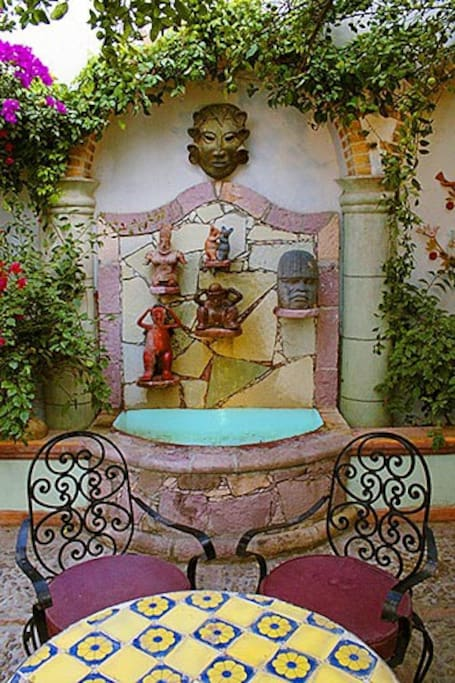 Front Courtyard and Fountain of Casa Christina