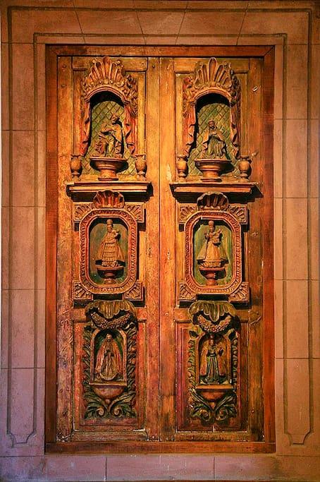 Antique Hacienda Doors in Living Room