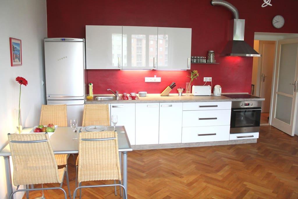 complete kitchenette