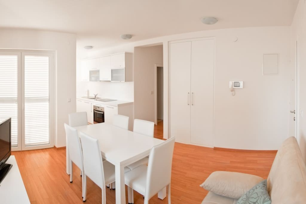 Dinning area and fully equipped kitchen