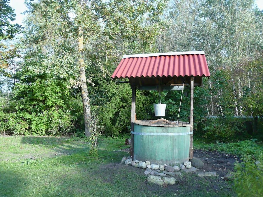 Waterput met bronwater