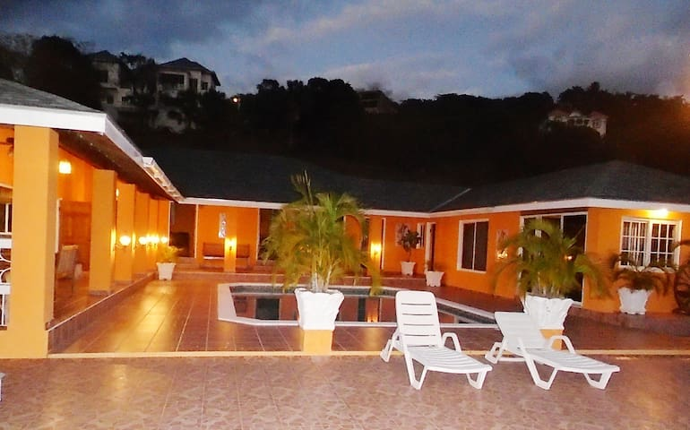 Spacious hillside villa with a large pool and sea views. Best by far in the area