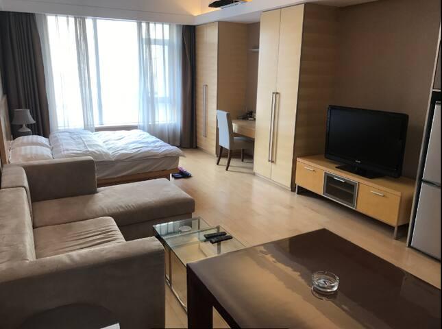 空港自贸区星级大床房,景观公寓,紧邻机场,欧洲贸易中心、燕莎奥特莱斯、欢乐谷景区 - Tianjin - Apartamento