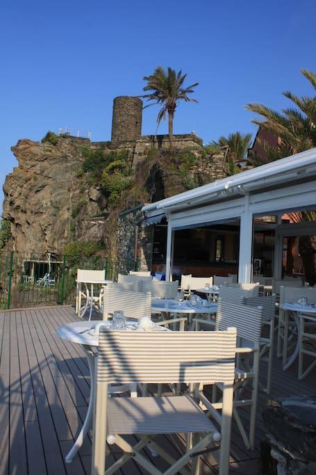 terrace for the breakfast-terrazza per la colazione